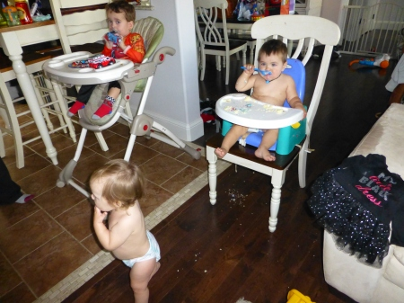 The party son took a turn where everyoe ended up naked...or the baby equivalent nothing but a diaper.