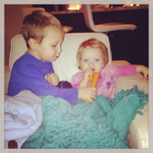 Carrots and cuddles.