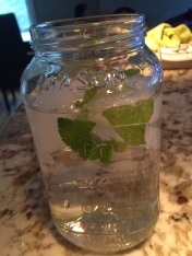 Hydration! I have been trying to get in as much water as possible, especially since I have been losing a lot of hydration with the extra heat during my workouts. I spice up my water with mint leaves, cucumber and lemon.
